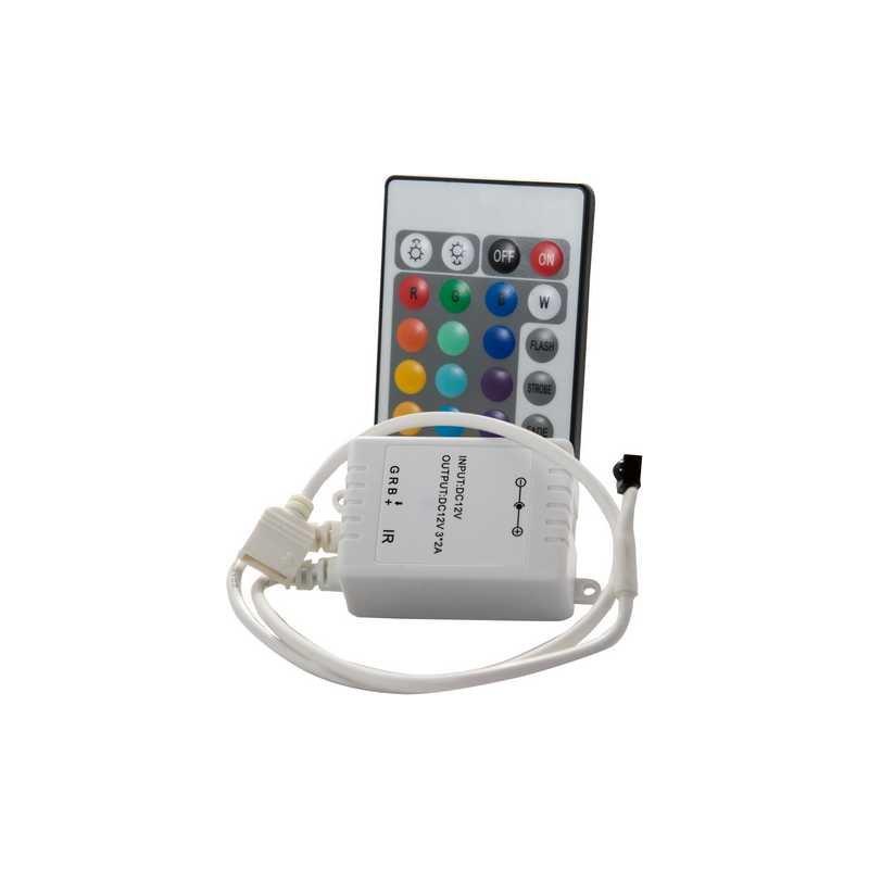 dotlux led infrarot rgb steuerung 12 v 24 v 3 x 2 ampere. Black Bedroom Furniture Sets. Home Design Ideas